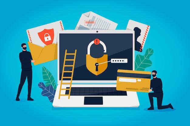 Voler des données du concept des utilisateurs en ligne
