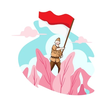 Voler mon drapeau indonésie