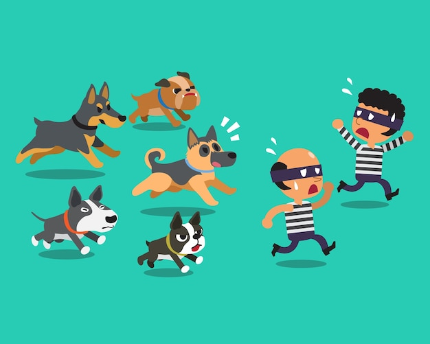 Voleurs de dessins animés et chiens de garde