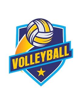Volley ball badge logo