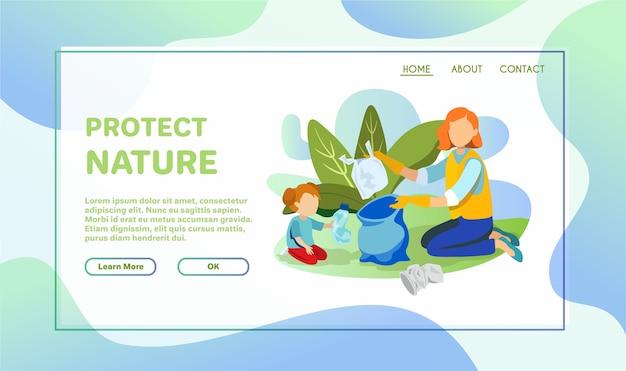 Volontaires nettoyant l'environnement