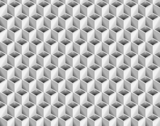 Volume réaliste texture, gris 3d motif géométrique sans soudure de cubes cubes