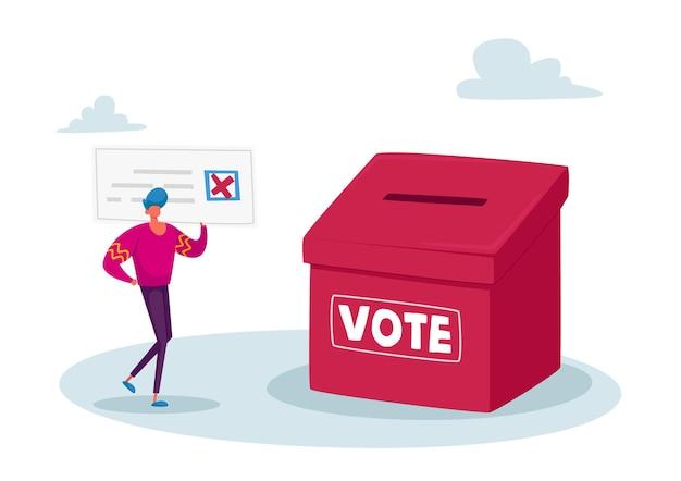 Vote, élection et concept de sondage social