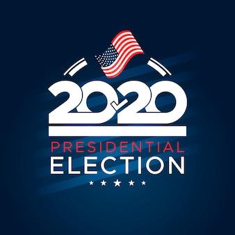 Vote à l'élection présidentielle américaine flat 2020
