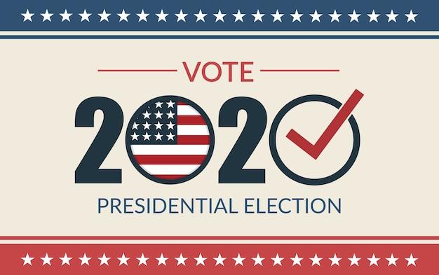Vote électoral aux états-unis. élection présidentielle.