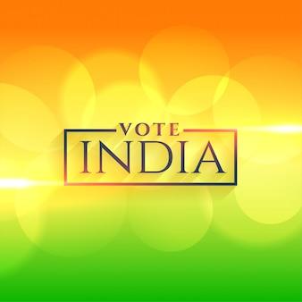 Vote inde fond avec les couleurs du drapeau indien