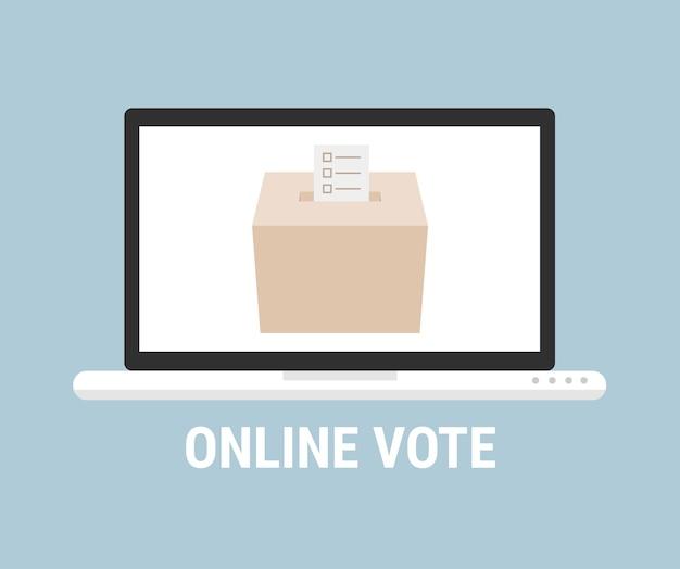Vote en ligne concept. style plat