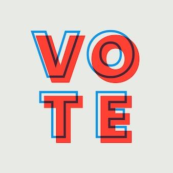 Vote multiplier le mot de vecteur de typographie de police