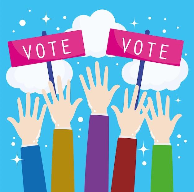 Votez mains levées