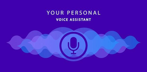 Votre assistant vocal personnel. reconnaissance vocale moderne. illustration