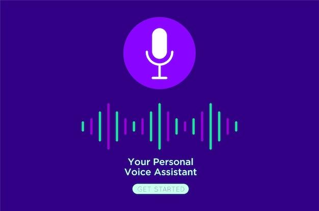 Votre illustration plate personnelle de voix