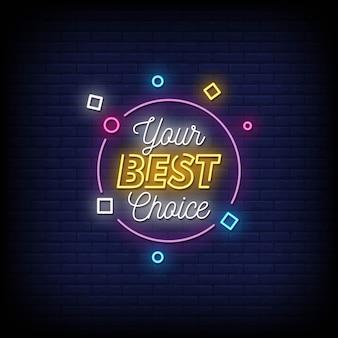 Votre meilleur choix de texte de style d'enseignes au néon