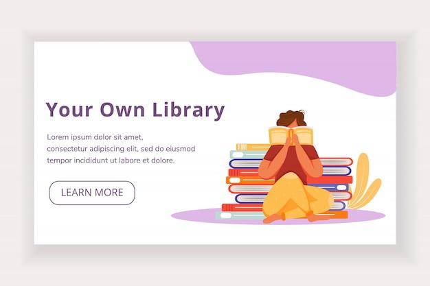 Votre propre modèle de page de destination de bibliothèque.