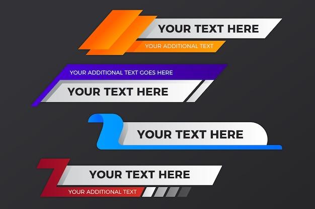 Votre texte ici modèle de bannières