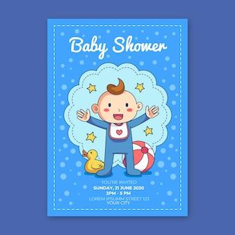 Vous êtes invités à une baby shower pour garçon avec canard en caoutchouc