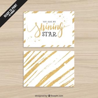 Vous êtes mon étoile brillante carte