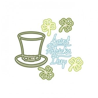 En vous souhaitant un joyeux st patricks day label icons