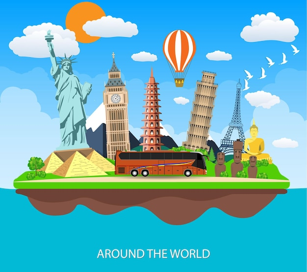 Voyage au monde. voyage au monde. vacances.