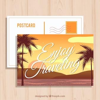 Voyage cartes postales avec paysage