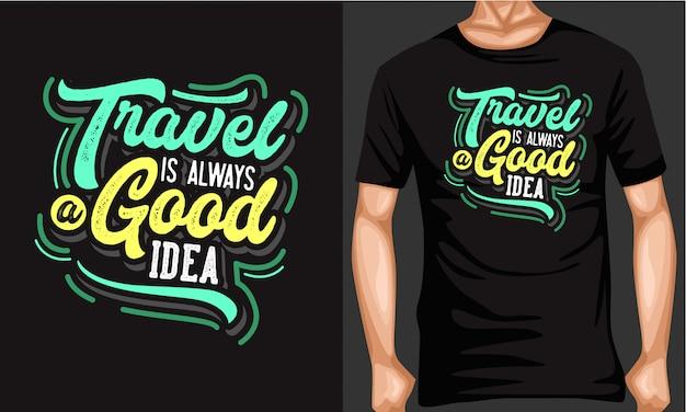 Voyage coloré est toujours une bonne idée de lettrage typographie