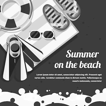 Voyage concept été sur la plage. voyager, planifier des vacances d'été