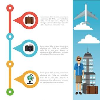 Voyage et conception infographique
