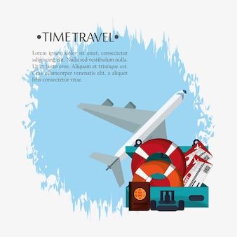 Voyage dans le temps affiche promotion vacances