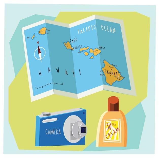 Voyage dessin animé illustration vectorielle pour le design