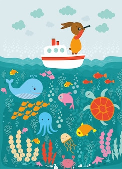 Voyage en mer avec le lapin