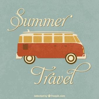 Voyage d'été retro