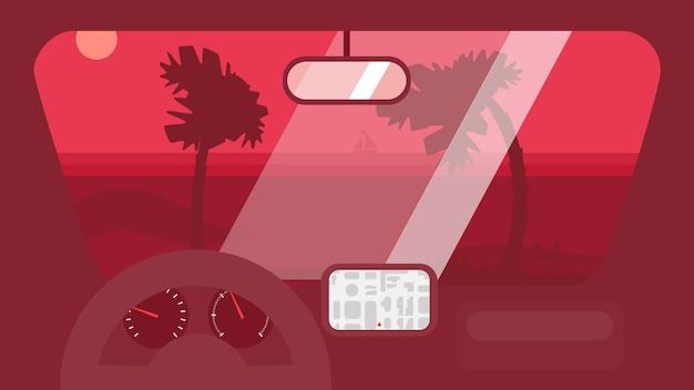 Voyage d'été en voiture