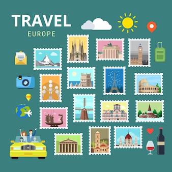 Voyage europe angleterre italie france autriche suisse ukraine