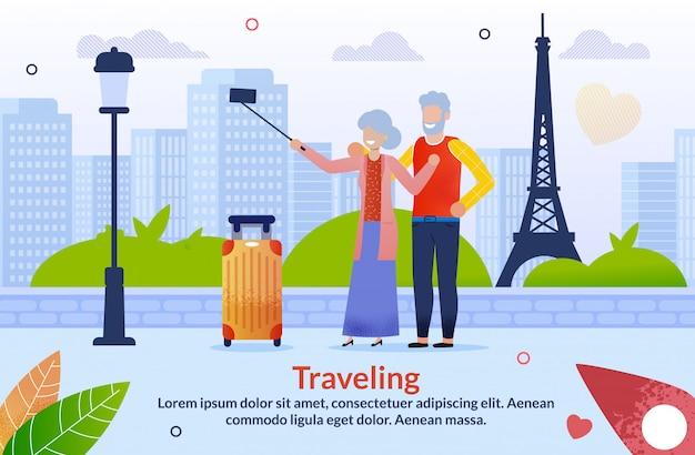 Voyage en europe pour les couples de personnes âgées âgées