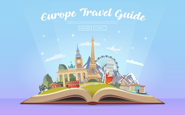 Voyage en europe. voyage en voiture.
