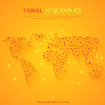 Voyage infographie sur la carte du monde