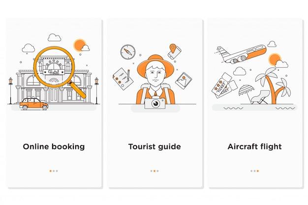 Voyage infographie web. planifiez vos vacances