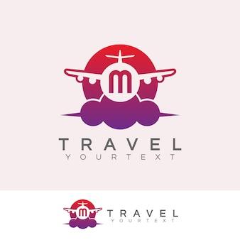 Voyage initial lettre m logo design