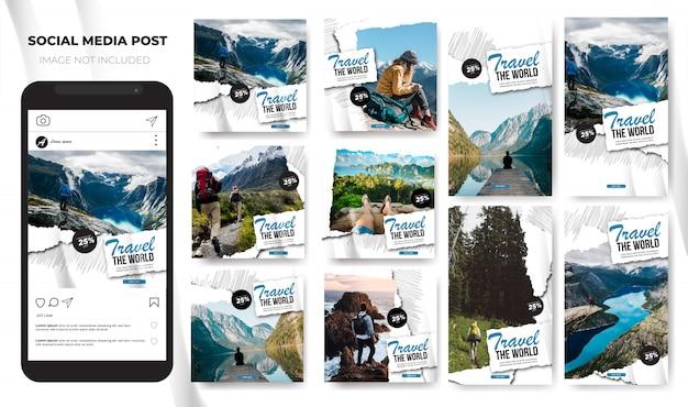 Voyage instagram mis en vacances vacances sur les réseaux sociaux