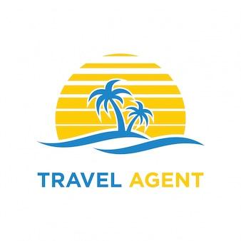 Voyage logo icône illustration de conception de vecteur