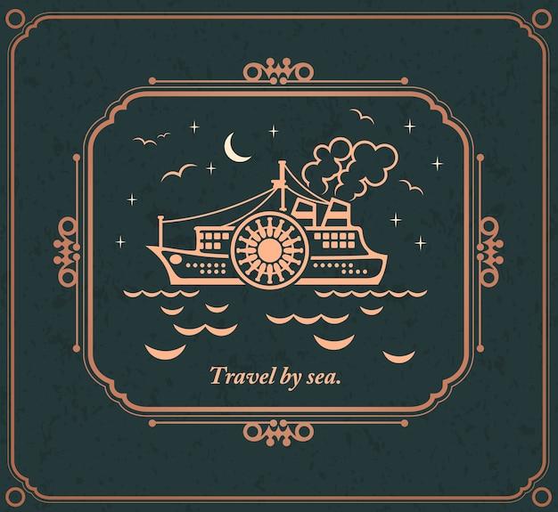 Voyage par mer, frontière calligraphique