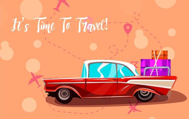 Voyage sur la route. voyage en voiture.