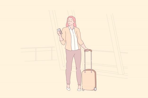 Voyage de vacances, saison touristique, concept wonderlust