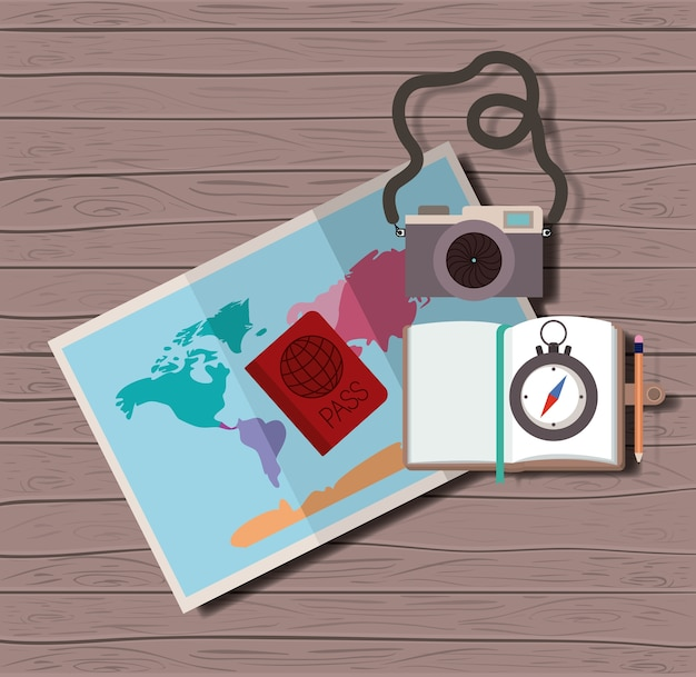 Voyager autour du monde définir des icônes