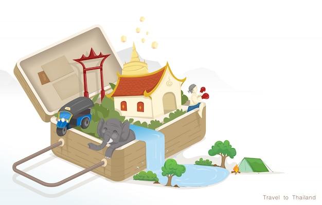 Voyager avec des bagages en thaïlande