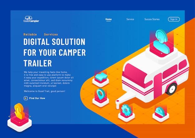 Voyager web plat illustration