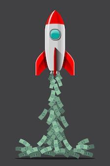 Les voyages dans l'espace et les sorties dans l'espace seront monnaie courante dans le futur de la terre. illustration dans le style 3d