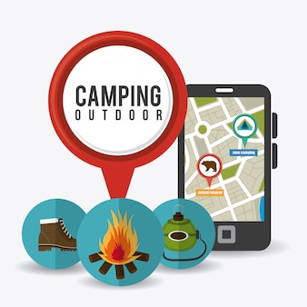 Voyages et vacances en camping.