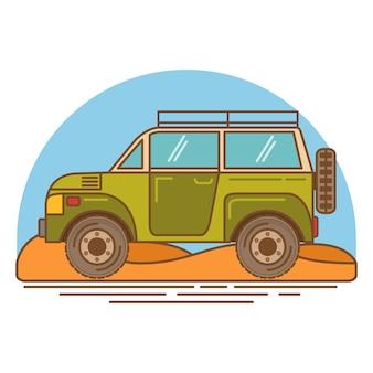 Voyages en voiture hors route.