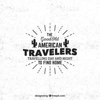 Les voyageurs américains insigne