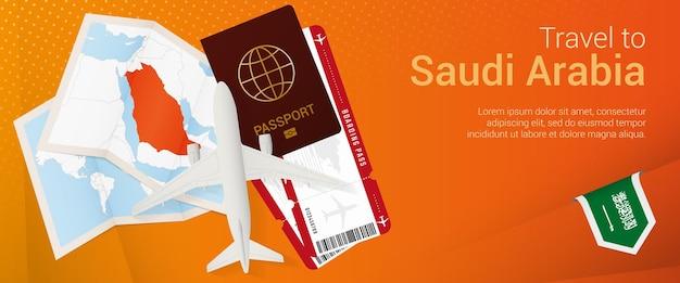 Voyagez en bannière popunder d'arabie saoudite